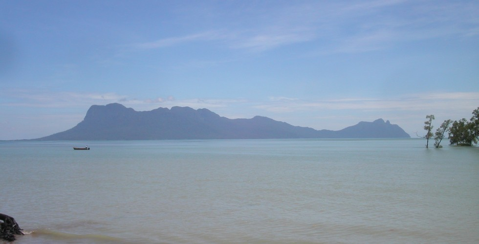 Mount Santubong seen from Bako National Park