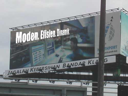 A billboard in Klang for the new Port.