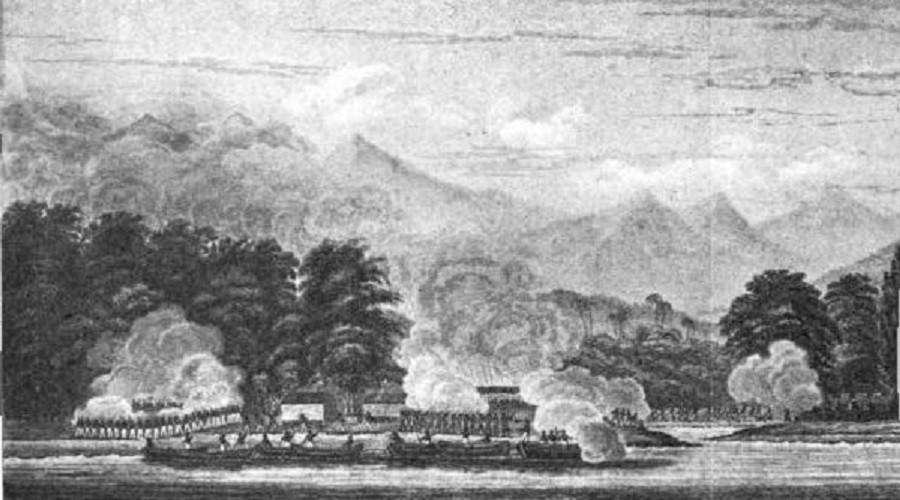 American troops attacking Kota Batu, Aceh